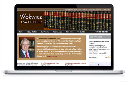 Wokwicz Law Offices website